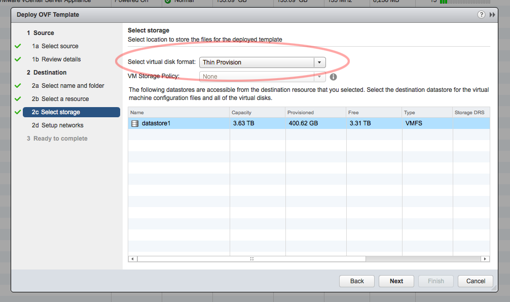 how to limit hard drive space vmware