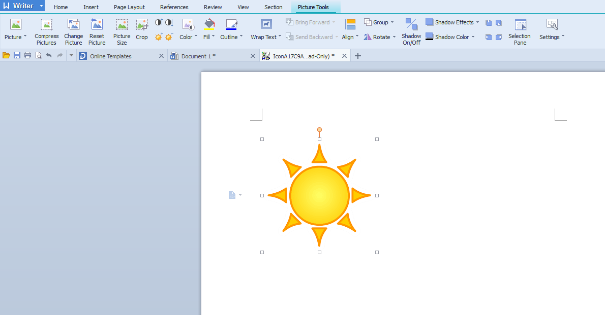 you can then copy and paste this image from the word document to the letter in tm2