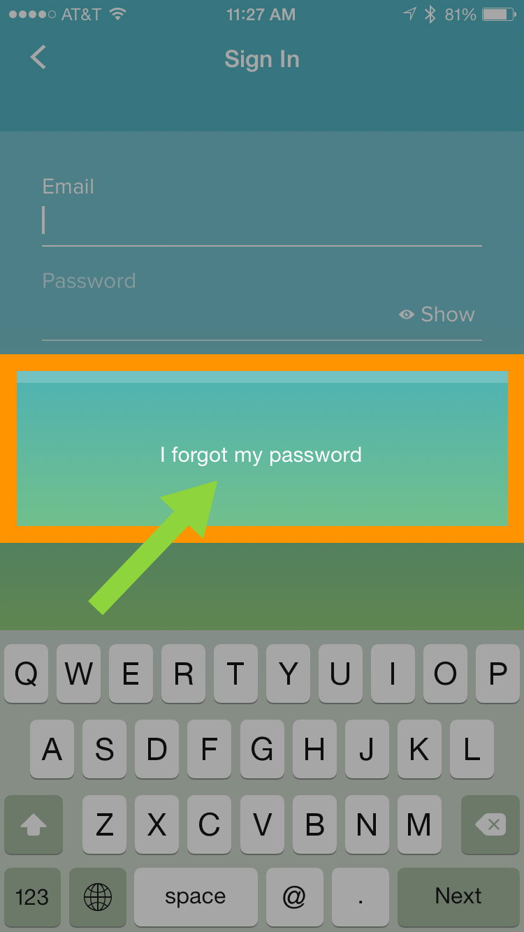 Why Can't I Reset My Password on the iPhone App? | Help Center ...