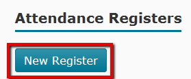 New Register button identified on Attendance page
