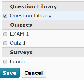 Indicates choices when image is in use in a quiz.