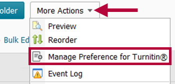 Indicates Manage Preferences options location.