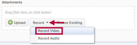 Shows location of record video button.