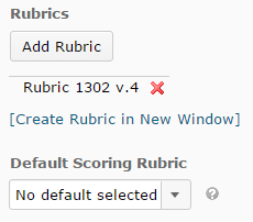 Shows rubric options.