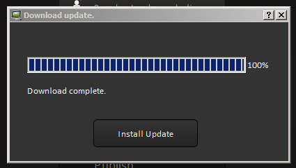 Shows download progress indicator.