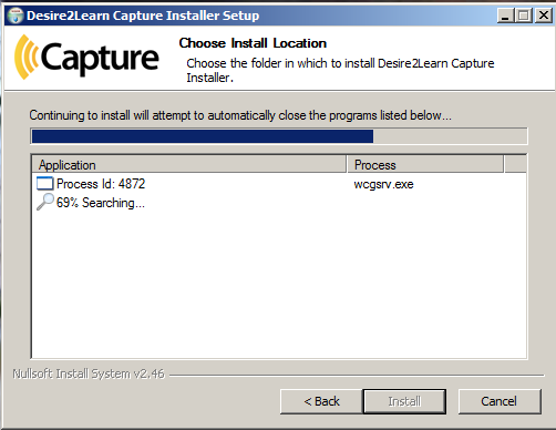 Shows continuation of Install Location dialog box.