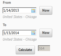 Shows the date calculator.