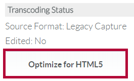 Indicates Optimize for HTML5 button.