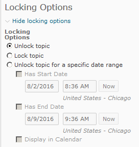 Shows Locking Options.