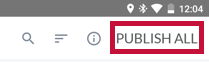 identifies the Publish All button.