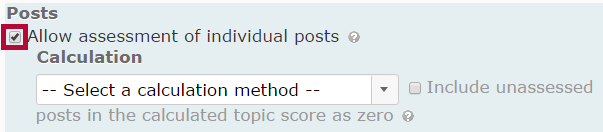 Identifies Allow assessments of individual posts