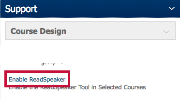 Identifies the ReadSpeaker option.