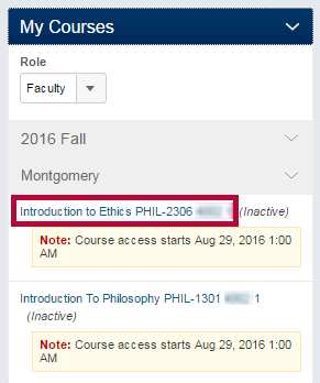 Identifies a course section.