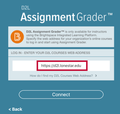 Identifies D2L address