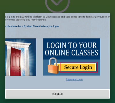 Image of secure login window