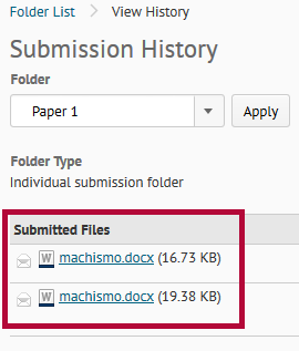 Identifies submitted files.