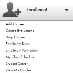 Shows the Enrollment menu.