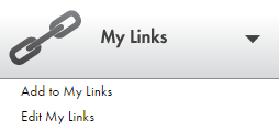 Shows My Links menu.