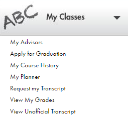 Shows the My Classes menu.