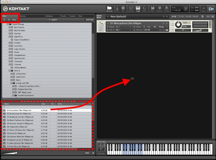 Drag and Drop Kontakt NKI Files to load