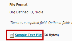 Identifies Sample Text File.
