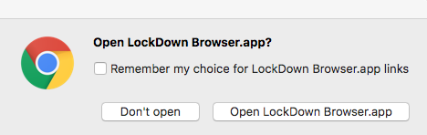 Chrome Mac dialog