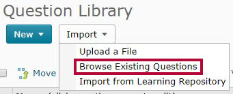 Identifies the Browse Existing Questions option.
