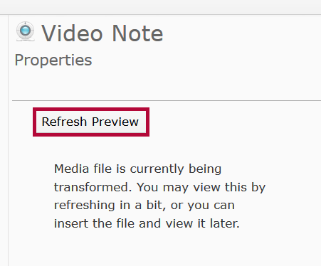 Identifies Refresh Preview button