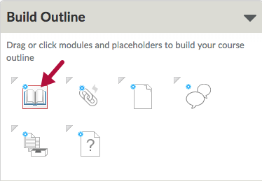 Indicates Create a Module icon in Course Builder