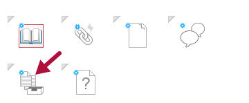 Indicates Assignment icon in Course Builder