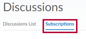 Shows Subscriptions