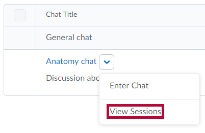 Identifies View Sessions