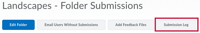 Location of Submission Log button