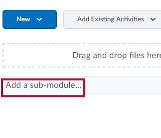 Shows Add a sub-module