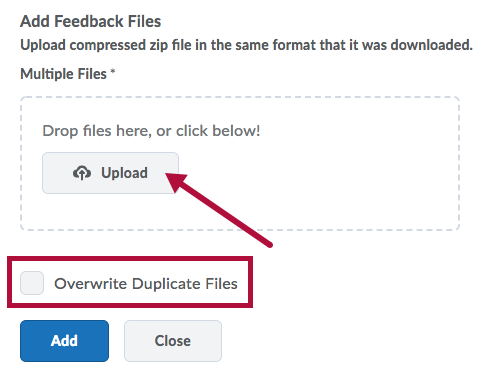 Add Feedback Files Upload option