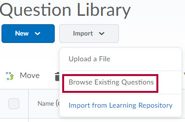 Identifies Browse Existing Questions