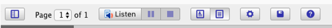 docReader toolbar.