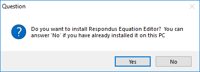 Displays install Equation Editor prompt