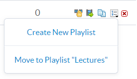 Displays Add to Playlist options