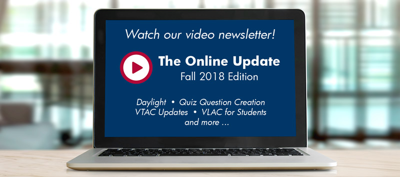 Watch our Fall 2018 video newsletter.