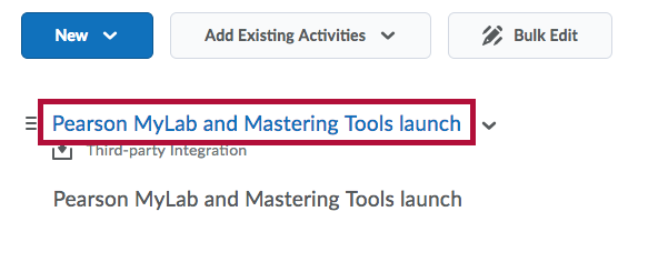 Identifies Pearson MyLab and Mastering Tools launch