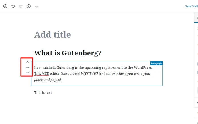 move gutenberg blocks