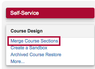 Indicates link to Merge Course Sections form