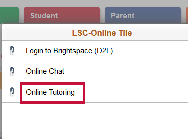 Indicates Online Tutoring link