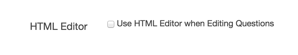Enable/Disable the HTML Editor