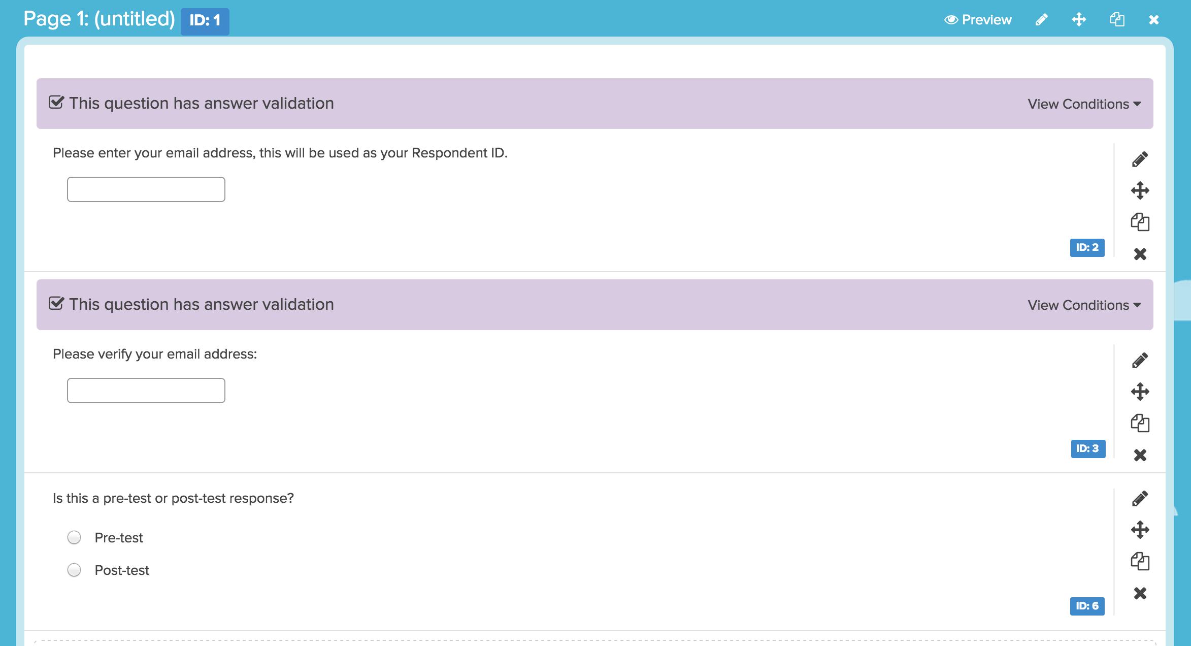 Create A Pre Test And Post Test Survey Surveygizmo Help