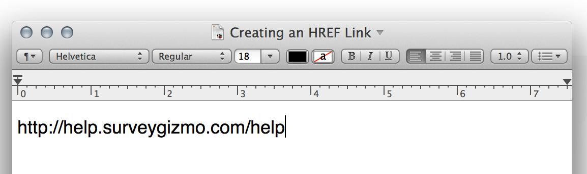 Link URL in Plain Text Editor