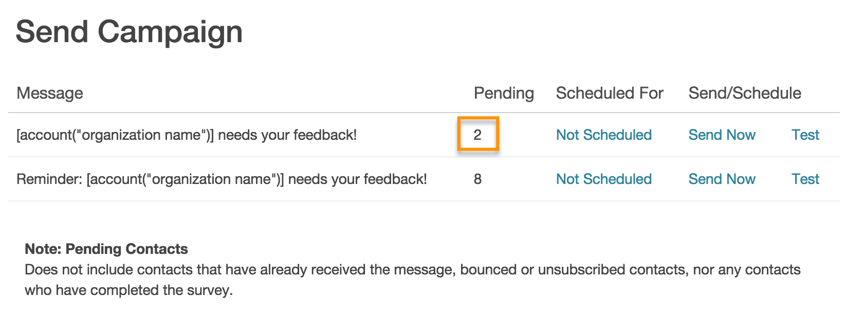 Send An Email Campaign Invite To A Newly Added Contact Surveygizmo