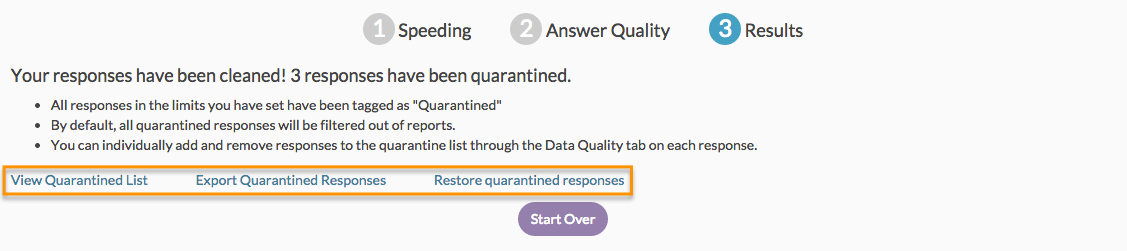View, Export, or Restore Quarantined Responses