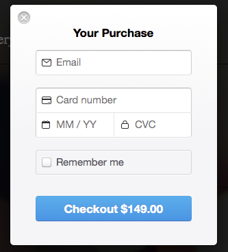 Payment Form Checkout Example